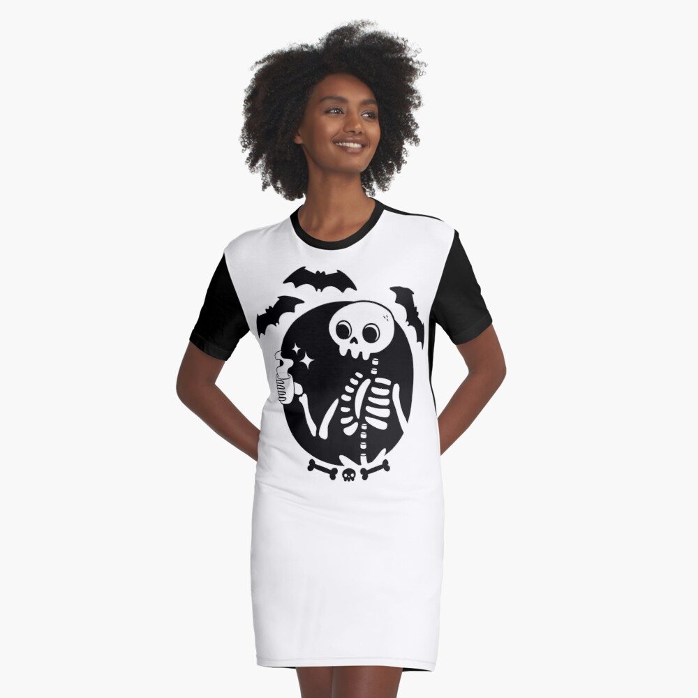 Death Before Decaf Graphic T-Shirt Dress