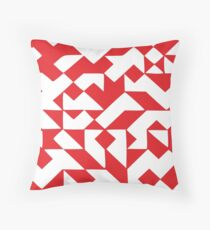 Geometric red Throw Pillow