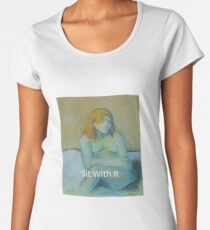 Sit With It Premium Scoop T-Shirt