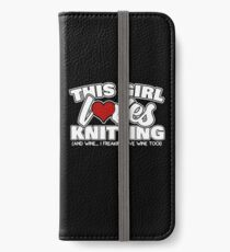 This Girl Loves Knitting iPhone Wallet/Case/Skin