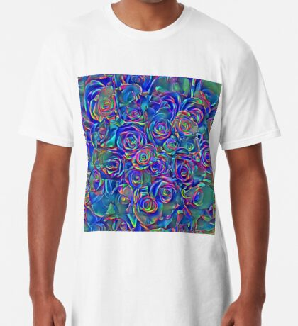 Roses of cosmic lights Long T-Shirt