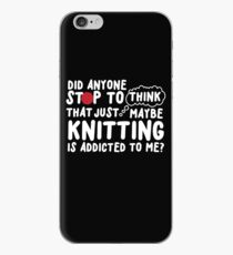Knitting Is Addicted To Me iPhone Case