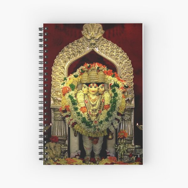 The Deities of India - Lord Dattatreya Spiral Notebook