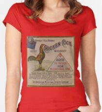 Chicken Cock Whiskey Famous Old Brand - bootleggers Women's Fitted Scoop T-Shirt