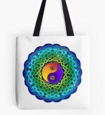 Yin Yang Celtic Mandala Tote Bag