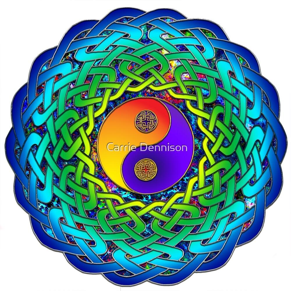 Yin Yang Celtic Mandala by Carrie Dennison