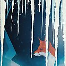 Fox in a snowy cave by Sybille Sterk