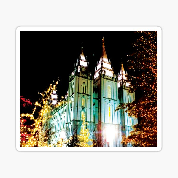 The Salt Lake Temple in December by Jerald Simon - Music Motivation (musicmotivation.com) Sticker