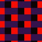 Squares & Rectangle (Purple, Black, Red) by Paul James Farr