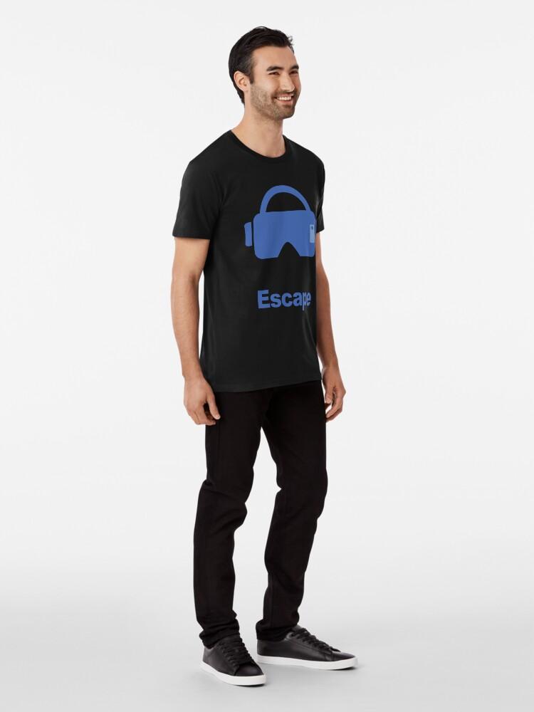 Alternate view of Virtual reality fantasy escape Premium T-Shirt