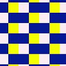 Squares & Rectangle (Blue, Yellow, White) by Paul James Farr