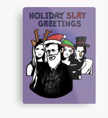 Holi-SLAY Greetings - BtVS Metal Print