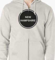 Subtle Circle - NEW HAMPSHIRE - United States of America - USA Zipped Hoodie