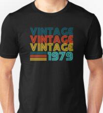 Camiseta ajustada Vintage 1979 Old School 40 cumpleaños