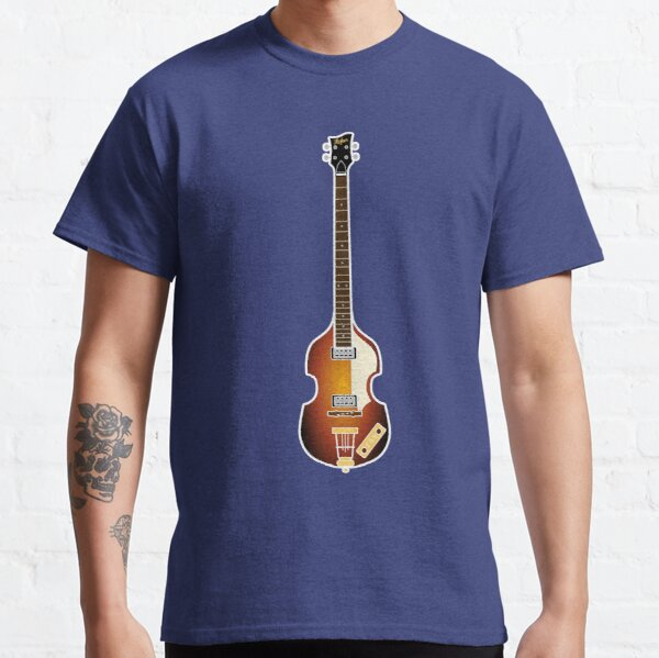 MUSICAL INSTRUMENTS SILHOUETTES - HOFNER BASS Classic T-Shirt