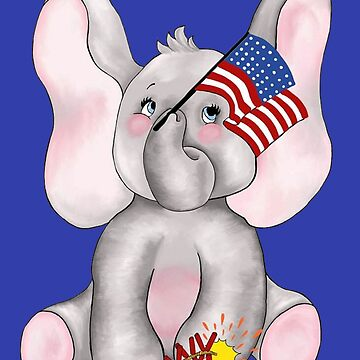 July 4th Elephant by redqueenself