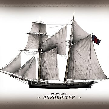 'The UNFORGIVEN' pirate ship by tonyfernandes1