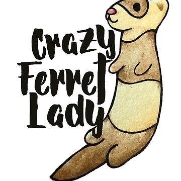 Crazy Ferret Lady by Boogiemonst