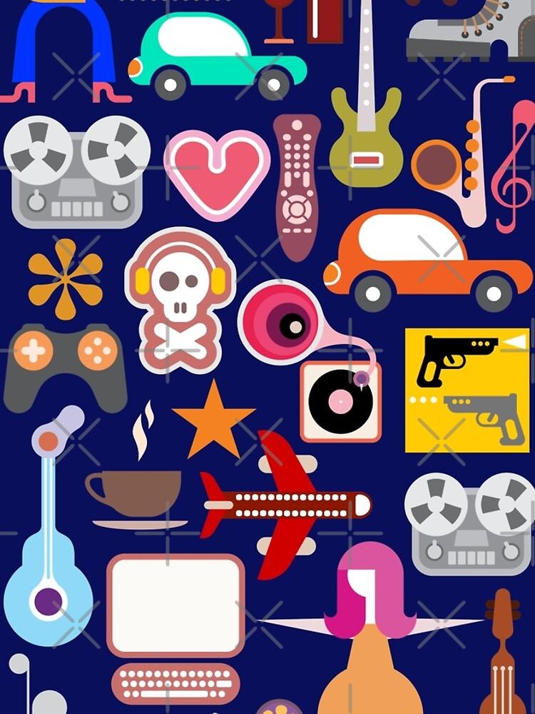 Hobbies Collage by Yazuka