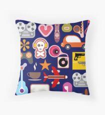 Hobbies Collage Floor Pillow