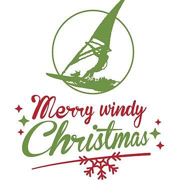 Merry windy Christmas Windsurfer  by TFever