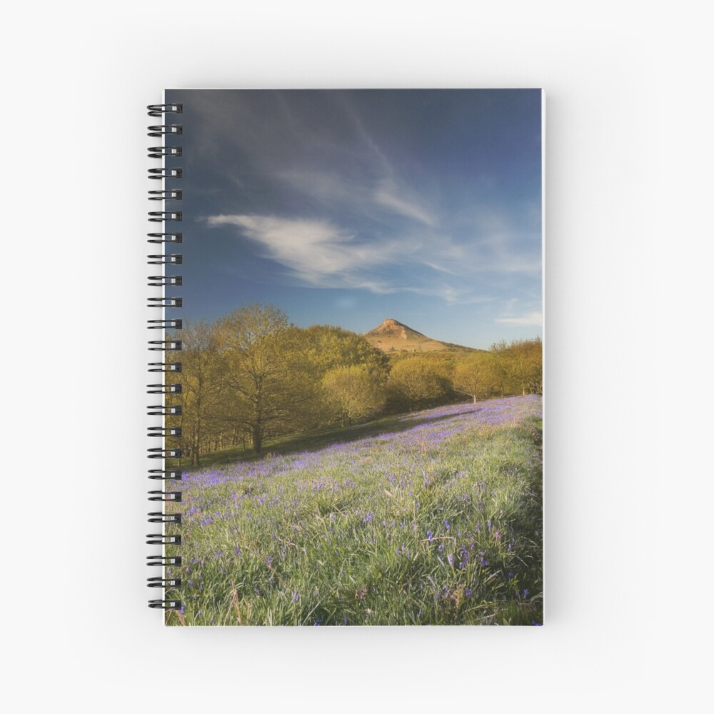 The Bluebells at Roseberry Topping Spiral Notebook