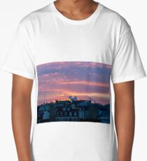 Sunrise over Paris in winter Long T-Shirt
