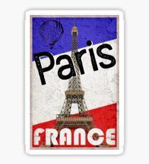 Paris-Frankreich-Eiffelturm-französischer Flaggen-Heißluft-Ballon Sticker