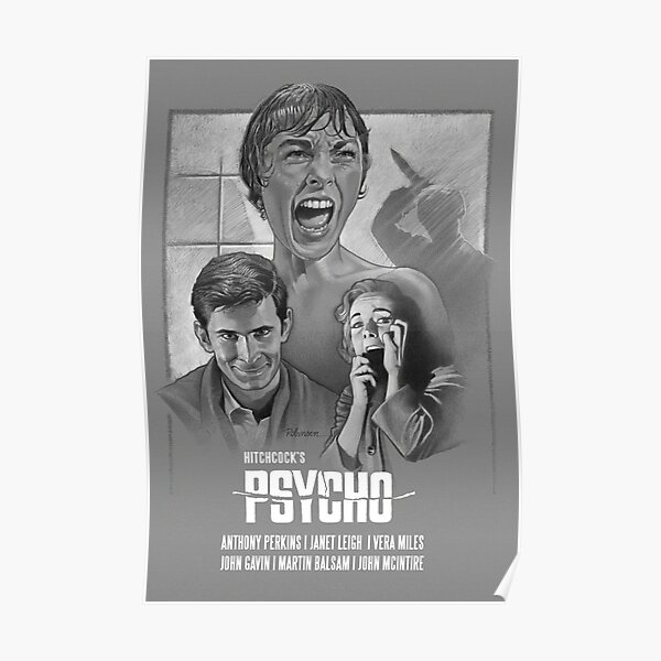 "Alfred Hitchcock's ""Psycho"" (1960) Poster"