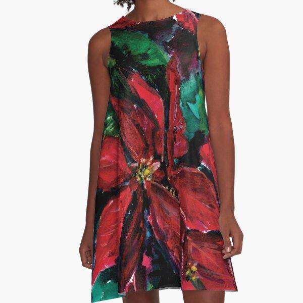 Christmas Flower A-Line Dress