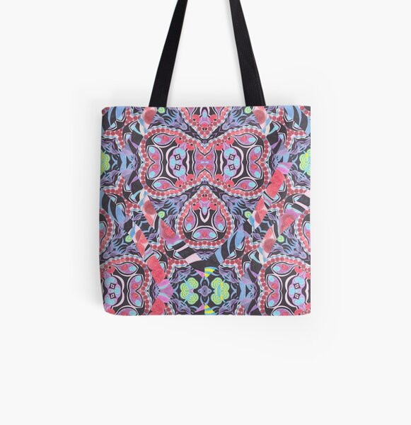 Pencil Print Diagonals Fall Into Winter Design Collection by Green Bee Mee All Over Print Tote Bag