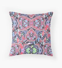 Pencil Print Diagonals Fall Into Winter Design Collection by Green Bee Mee Throw Pillow