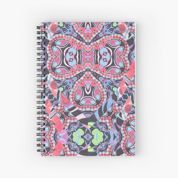 Pencil Print Diagonals Fall Into Winter Design Collection by Green Bee Mee Spiral Notebook