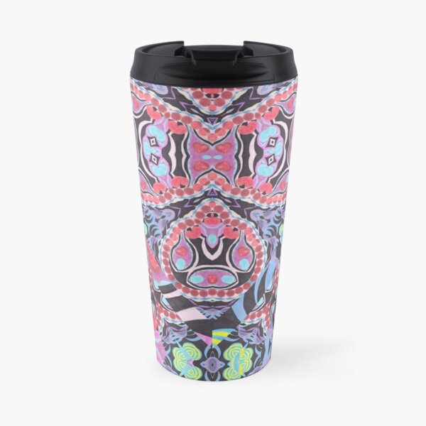 Pencil Print Diagonals Fall Into Winter Design Collection by Green Bee Mee Travel Mug