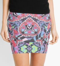 Pencil Print Diagonals Fall Into Winter Design Collection by Green Bee Mee Mini Skirt
