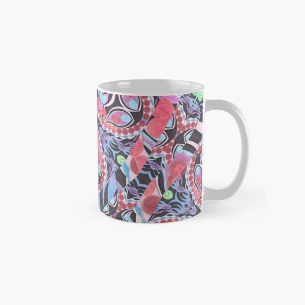 Pencil Print Diagonals Fall Into Winter Design Collection by Green Bee Mee Classic Mug