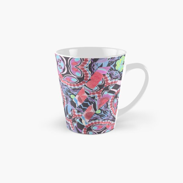 Pencil Print Diagonals Fall Into Winter Design Collection by Green Bee Mee Tall Mug