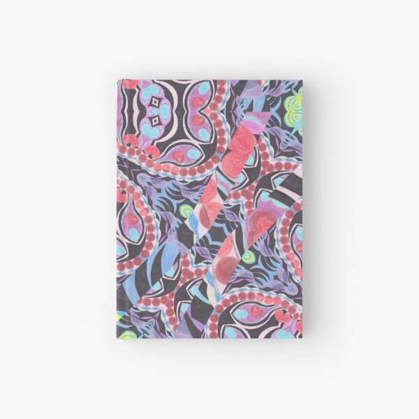 Pencil Print Diagonals Fall Into Winter Design Collection by Green Bee Mee Hardcover Journal