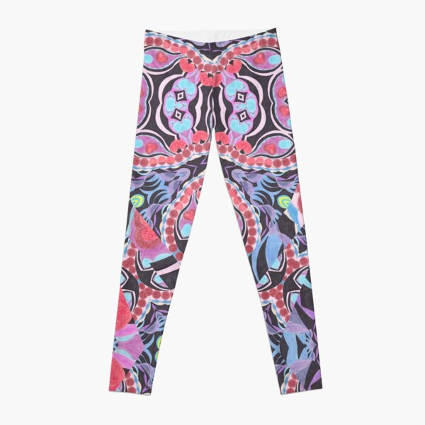 Pencil Print Diagonals Fall Into Winter Design Collection by Green Bee Mee Leggings