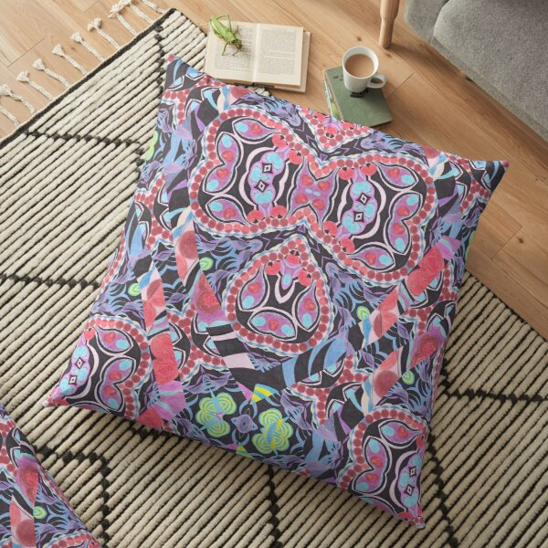 Pencil Print Diagonals Fall Into Winter Design Collection by Green Bee Mee Floor Pillow