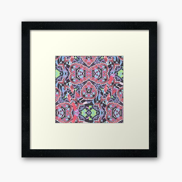 Pencil Print Diagonals Fall Into Winter Design Collection by Green Bee Mee Framed Art Print