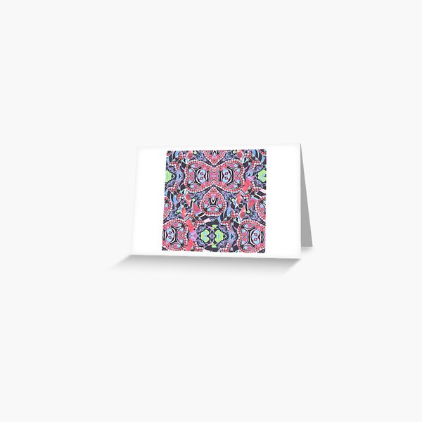 Pencil Print Diagonals Fall Into Winter Design Collection by Green Bee Mee Greeting Card
