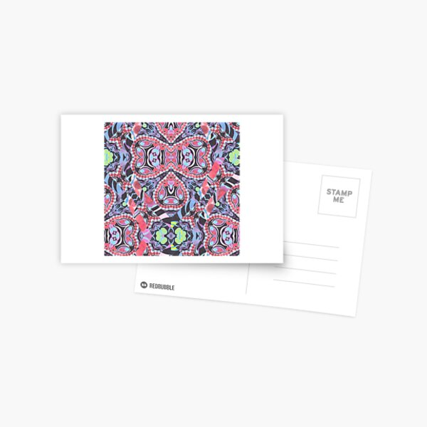 Pencil Print Diagonals Fall Into Winter Design Collection by Green Bee Mee Postcard