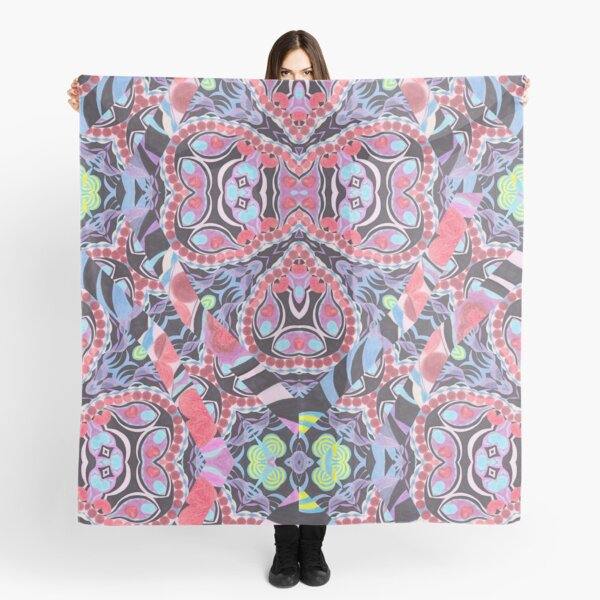Pencil Print Diagonals Fall Into Winter Design Collection by Green Bee Mee Scarf