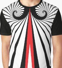 Muster Spirale Träne Weiss Rot Grafik T-Shirt
