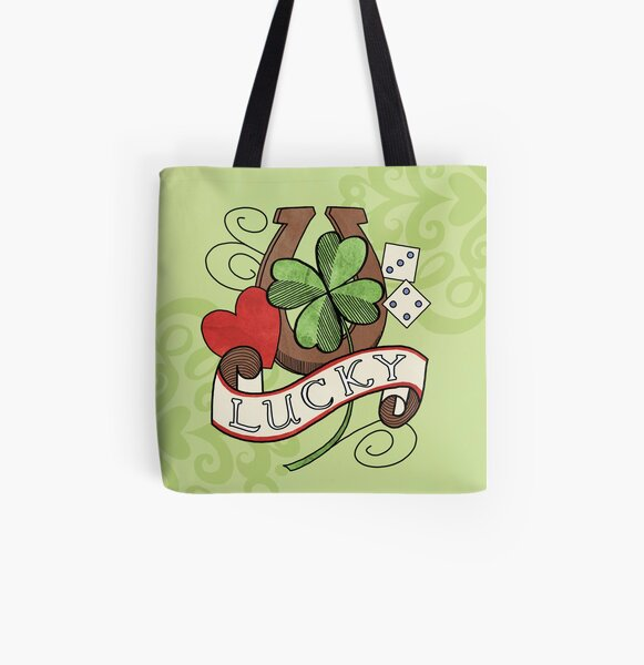 Tattoo - Lucky All Over Print Tote Bag