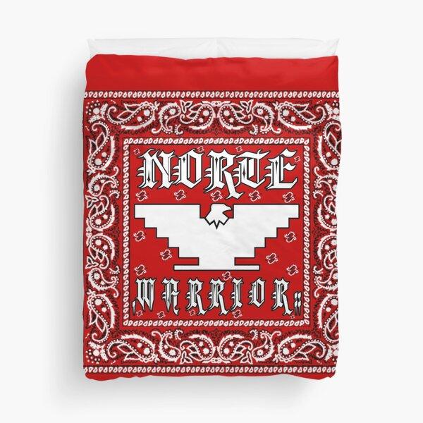 """Norte Warrior"" (Red Bandanna Design) Duvet Cover"