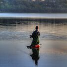 The Angler - Narrabeen Lakes , Sydney - The HDR Experience by Philip Johnson