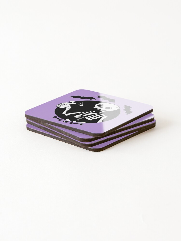 Alternate view of Death Before Decaf // Purple Coasters (Set of 4)
