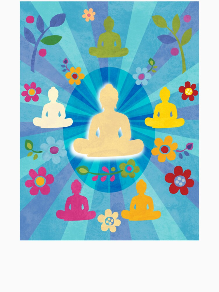 Radiating Buddha and Sangha by challisandroos